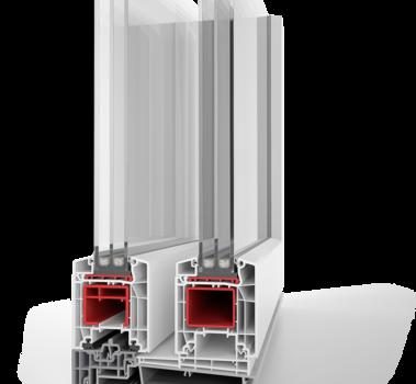 BASIC 85 мм PVC профилна система плъзгане с повгане Хебе Шибе